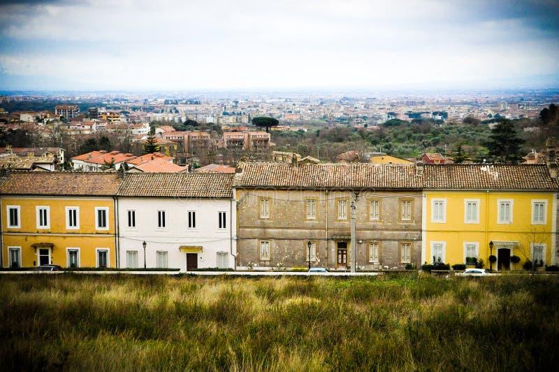 Häuser Sans Leucio lizenzfreie stockfotos