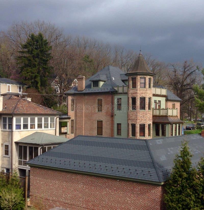 Häuser in Staunton Virginia lizenzfreies stockfoto