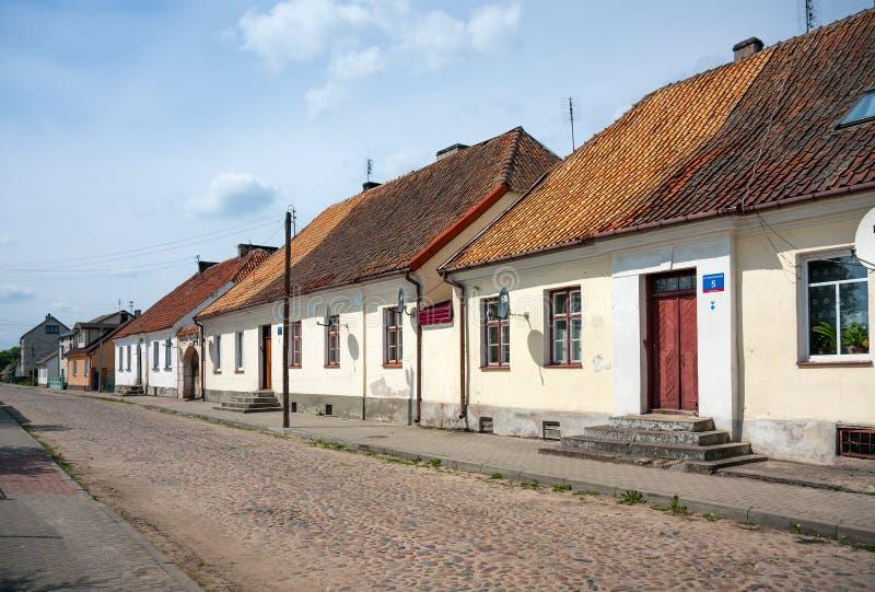 Häuser in Tykocin-Stadt, Polen lizenzfreies stockfoto