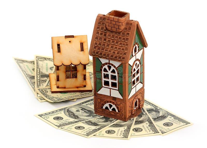 Häuser und Dollar stockfoto