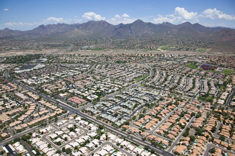 Häuser und Wohnungen stockbild