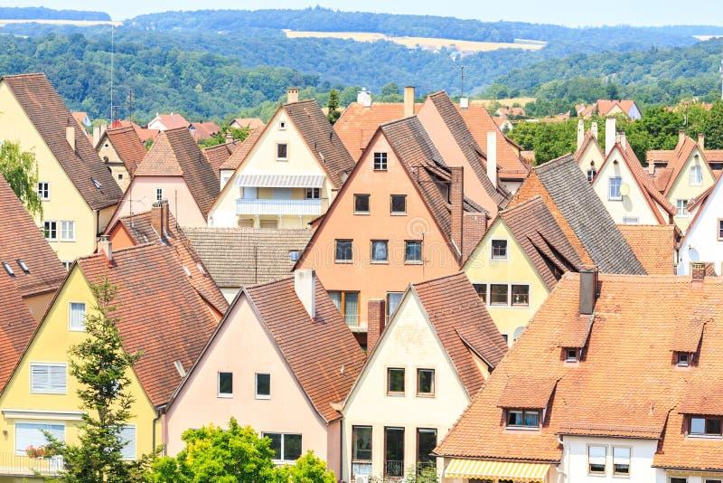Häuser von Rothenburg-ob der Tauber lizenzfreie stockbilder
