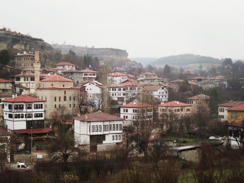 Häuser von Safranbolu lizenzfreie stockbilder