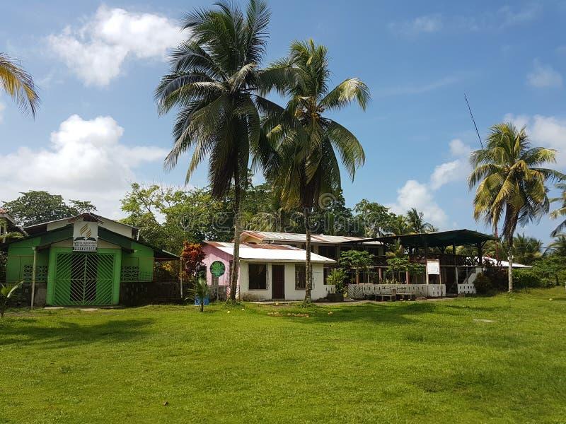 Häuser von Tortuguero, Costa Rica stockfoto