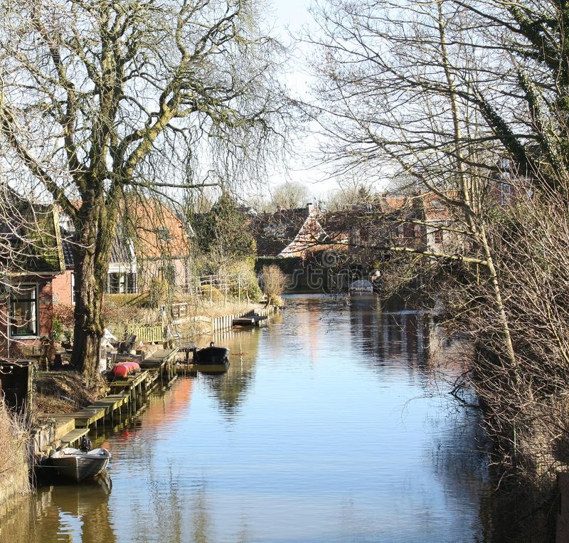 Häuser in Winsum netherlands stockfotos
