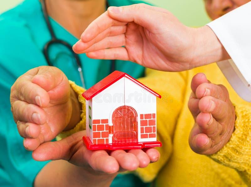 Häusliche Pflege lizenzfreies stockfoto