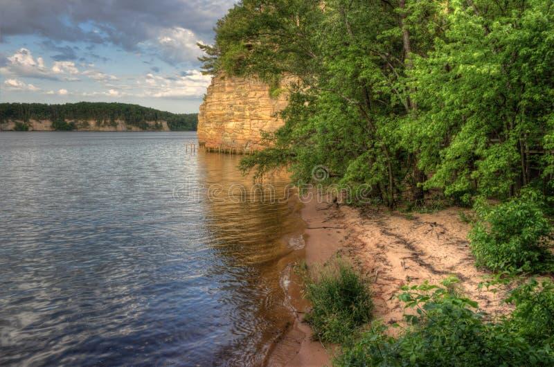Häxabergsklyftan är en gömd dragning i Wisconsin Dells och kan arkivbild