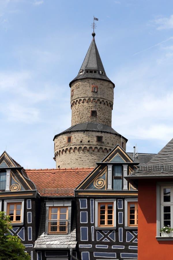 Häxatorn i Idstein royaltyfri foto