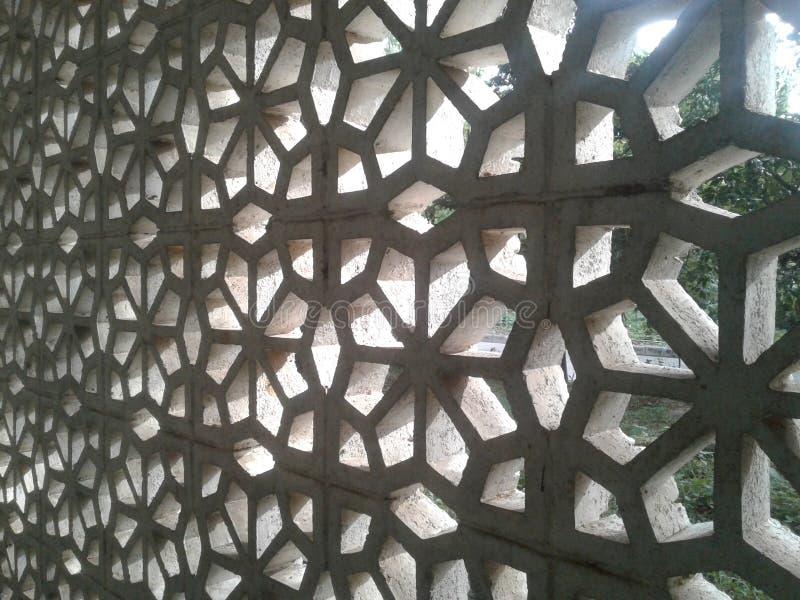 Hål i väggen för luftcirkulation royaltyfri foto
