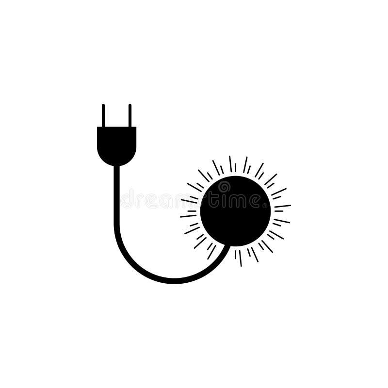 Hålighet solsymbol på vit bakgrund Kan användas för rengöringsduken, logoen, den mobila appen, UI UX royaltyfri illustrationer