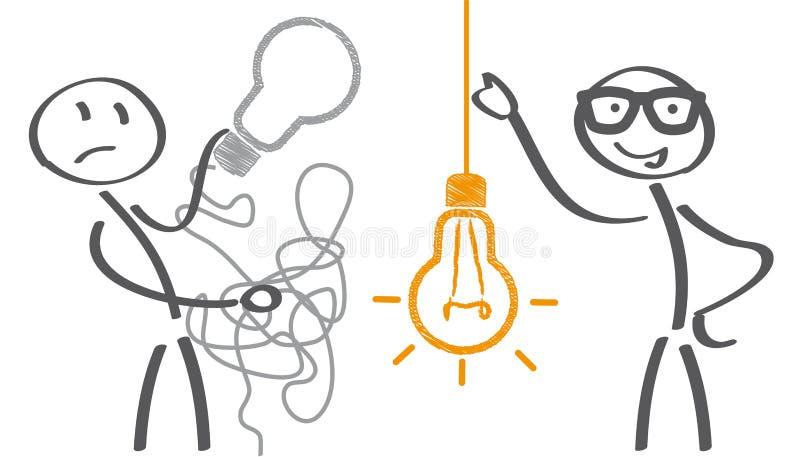 Håll det det enkla begreppet vektor illustrationer
