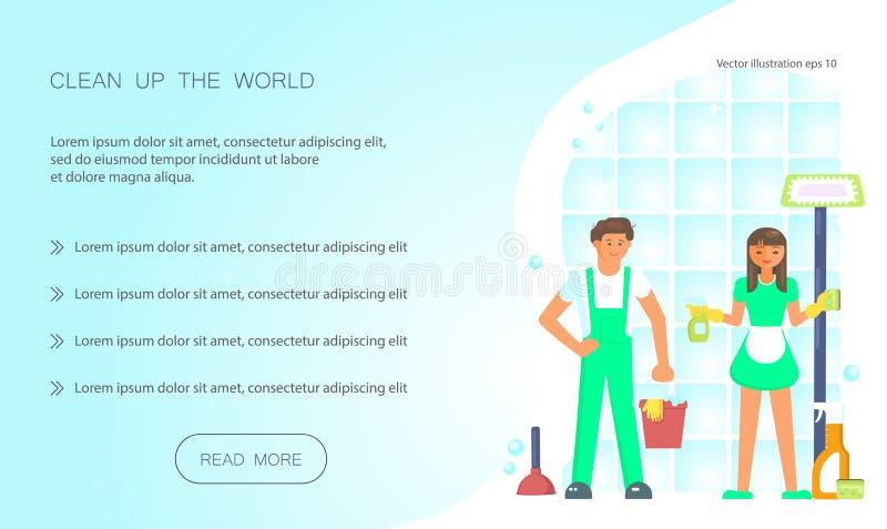Håll din hem- rena rengöringsdukdesign vektor illustrationer