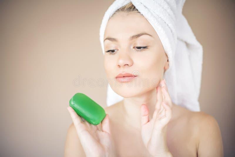 Håll din hud sund royaltyfri bild