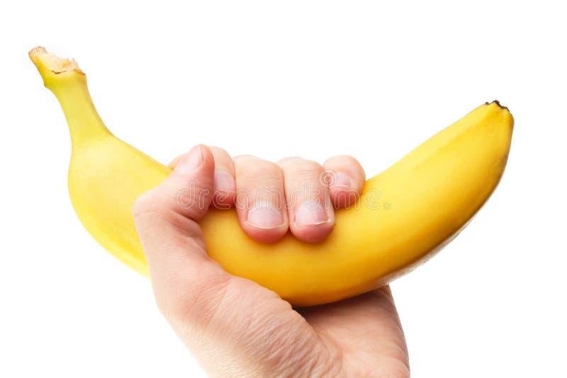 håll för bananfrukthand fotografering för bildbyråer