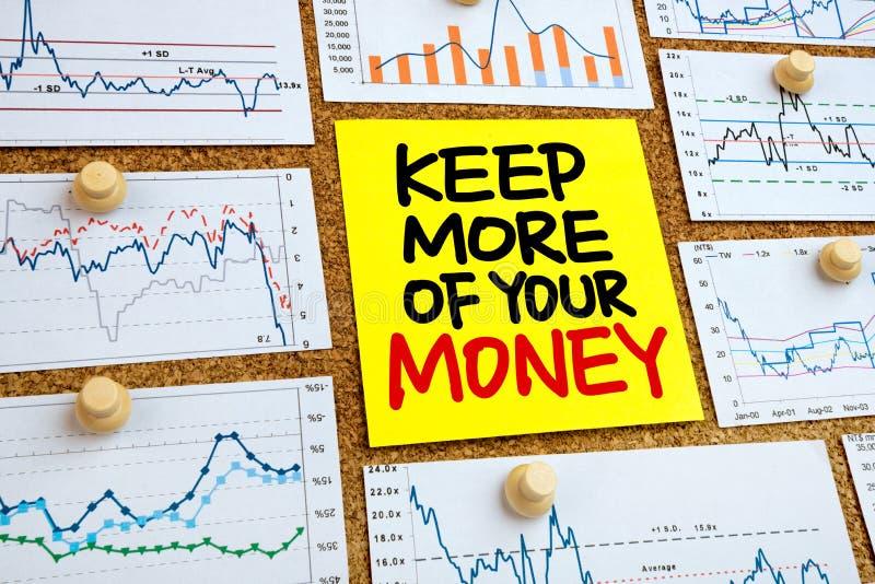 Håll mer av dina pengar arkivbild