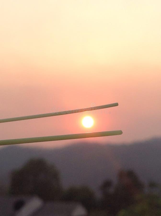Håll solen fotografering för bildbyråer