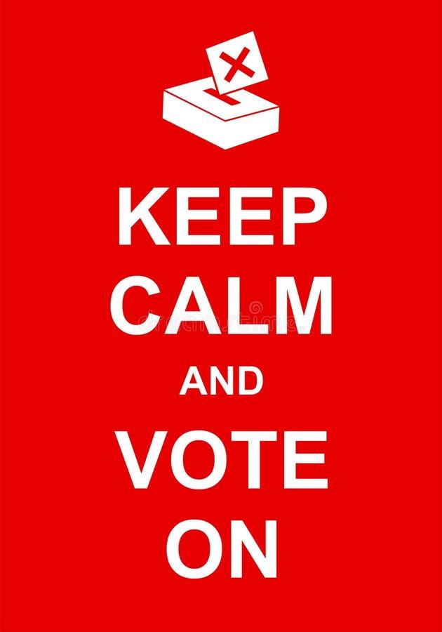 Håll stillhet och rösta på royaltyfri illustrationer