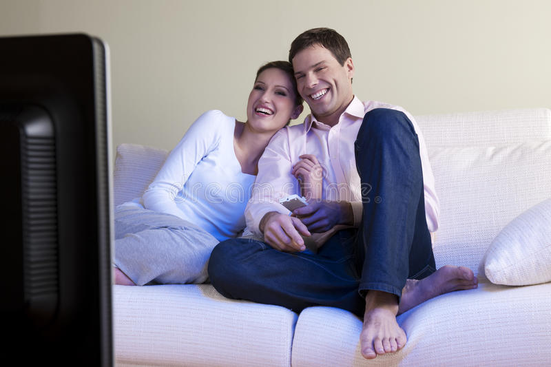 hålla ögonen på för tv royaltyfria bilder