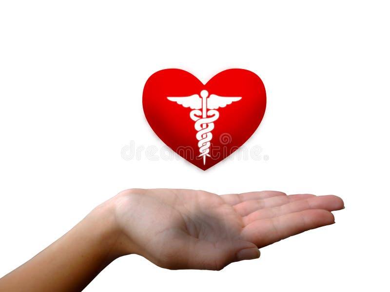 Hållande hjärtasymbol för hand royaltyfri bild