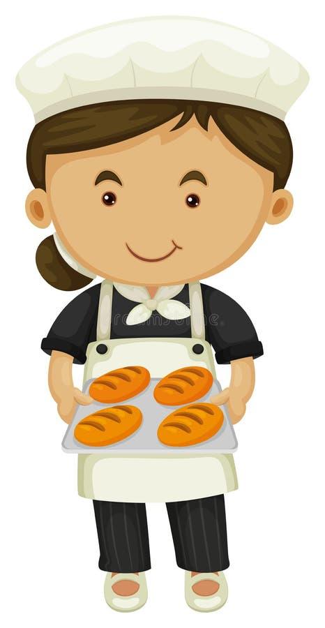 Download Hållande Magasin För Kvinnlig Bagare Av Bröd Vektor Illustrationer - Illustration av arbete, kock: 78731288