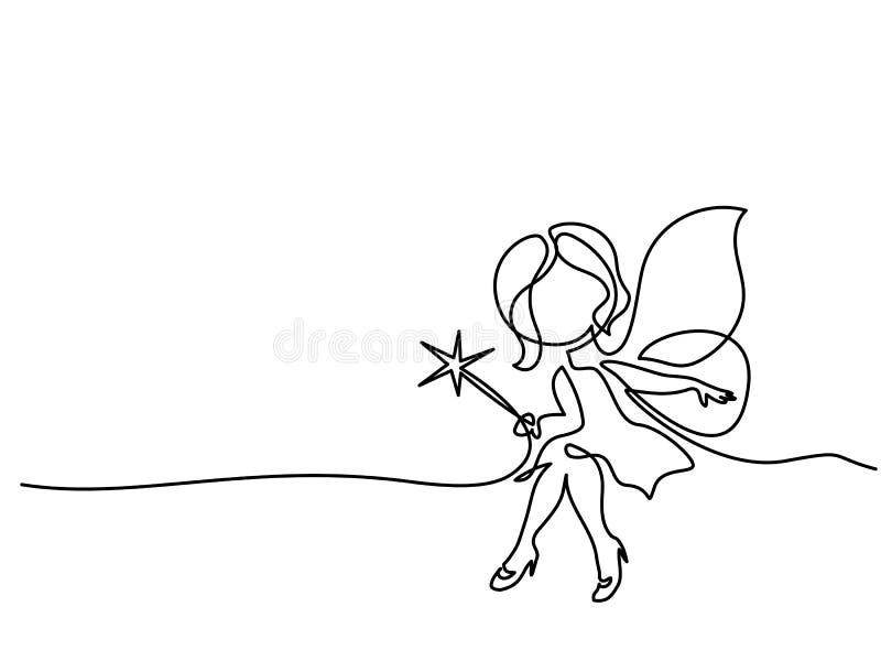 Hållande trollspö för härlig magekvinna vektor illustrationer