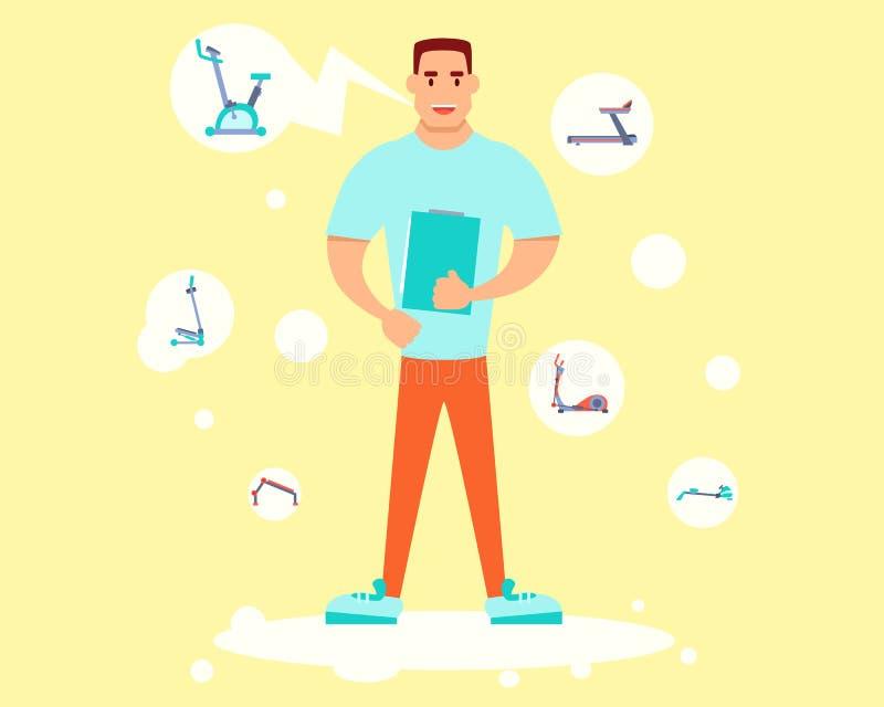 Hållande utbildningsplan för personlig instruktör stock illustrationer