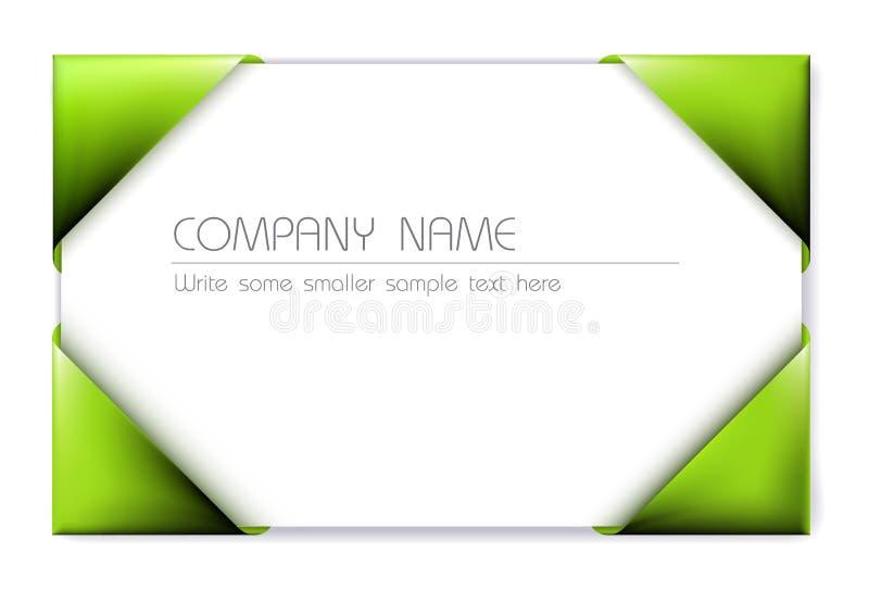 hållare för green för affärskort vektor illustrationer