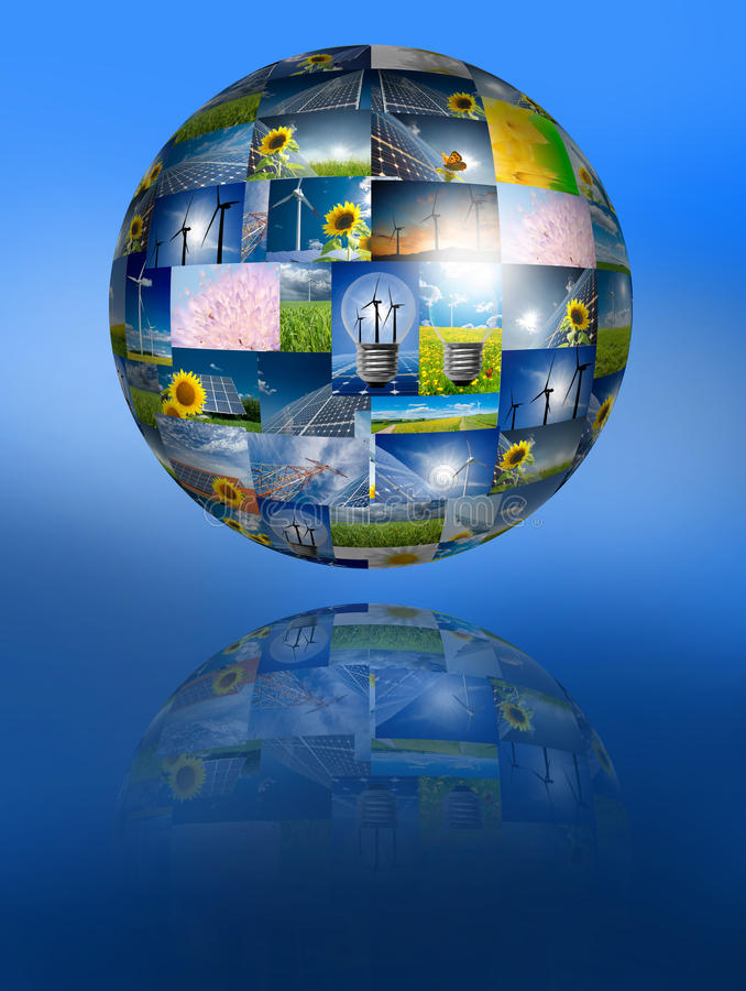 hållbar begreppsenergi royaltyfria foton