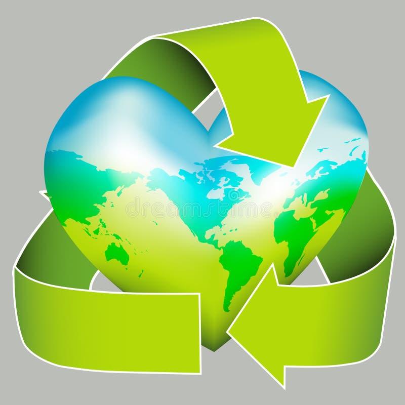 hållbar dagjordsymbol royaltyfri illustrationer