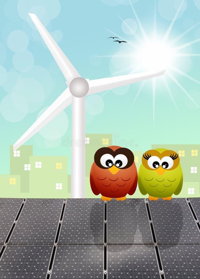 hållbar energi stock illustrationer
