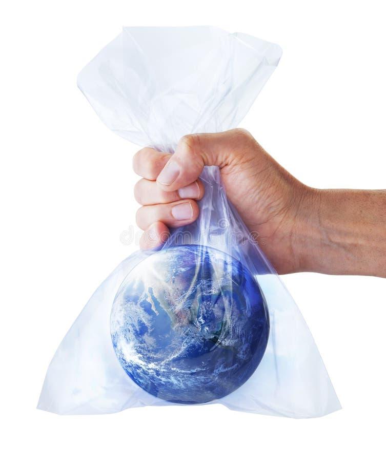 Hållbart bosatt plast- världsväxthus royaltyfri foto