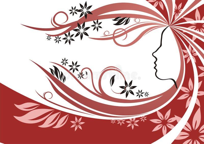 hår royaltyfri illustrationer