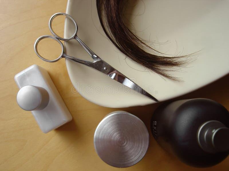 hår för 5 omsorg arkivfoto