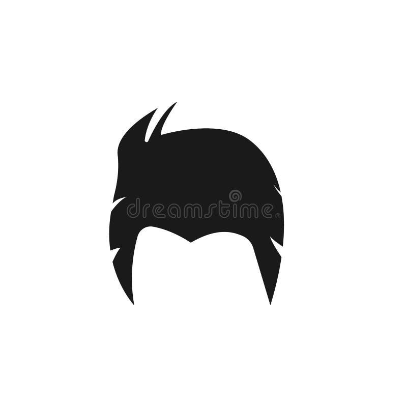 hår kvinna, frisyr, kort symbol vektor illustrationer