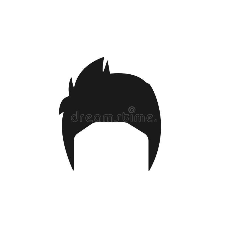 hår kvinna, frisyr, kort symbol royaltyfri illustrationer