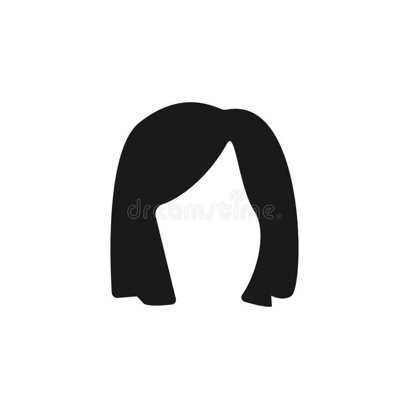 hår kvinna, frisyr, medelsymbol stock illustrationer