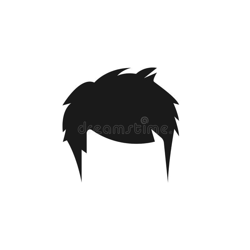 hår kvinna, frisyr, quiffsymbol stock illustrationer