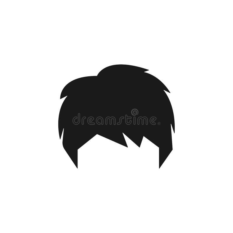 hår kvinna, frisyr, shagsymbol vektor illustrationer