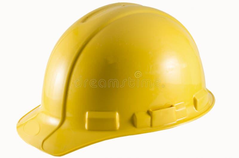 Hård hatt för konstruktionssäkerhet arkivbilder
