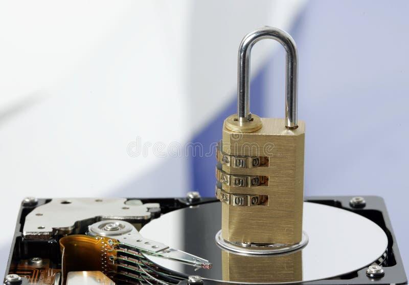 hård padlock för disk royaltyfri fotografi