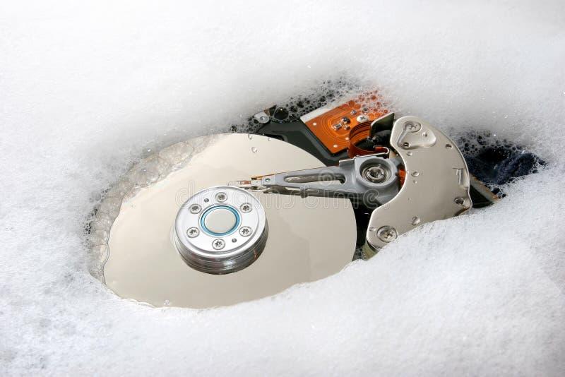 hård rengöringsdisk fotografering för bildbyråer