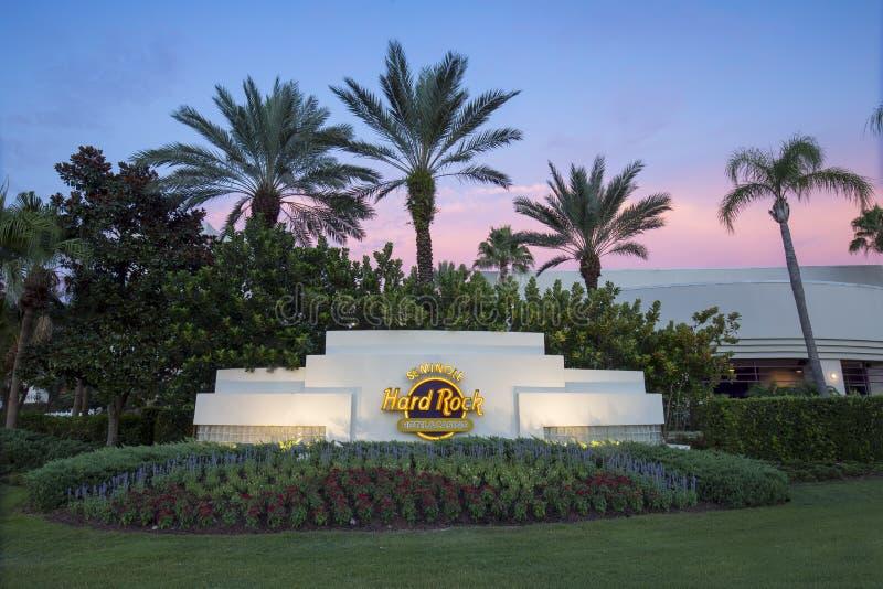 Hård Seminole vaggar hotellet & kasinot royaltyfri bild