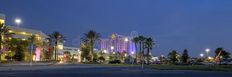 Hård Seminole vaggar hotellet & kasinot fotografering för bildbyråer