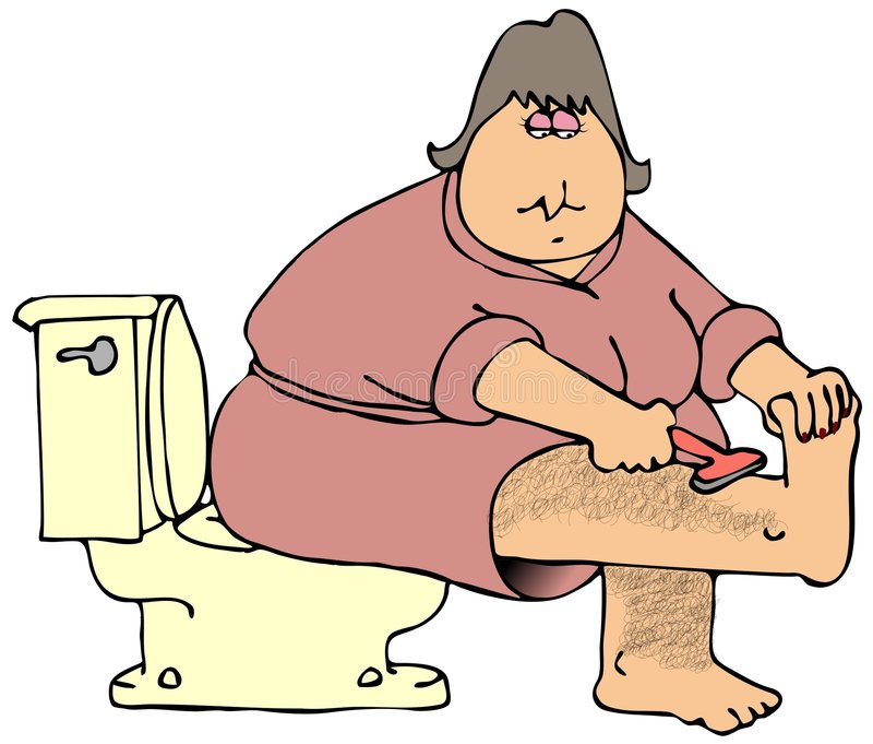hårigt henne ben som rakar kvinnan royaltyfri illustrationer