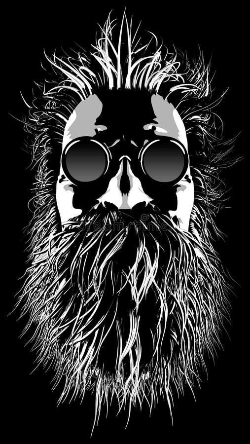 Hårigt hippietecken vektor illustrationer