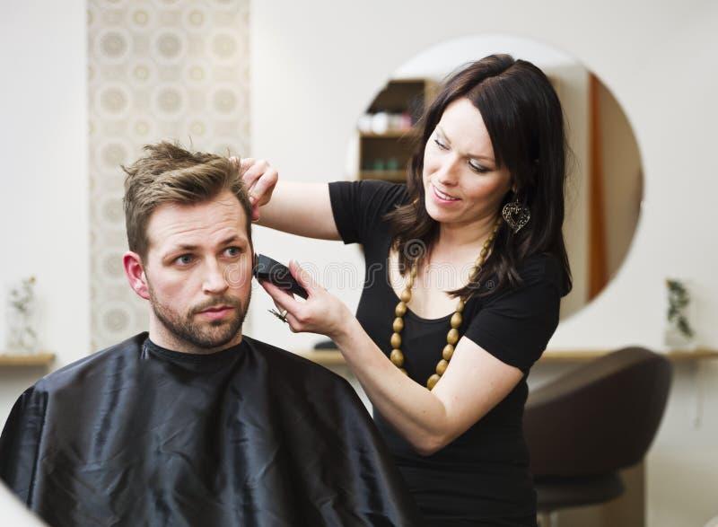 hårsalongläge arkivbilder