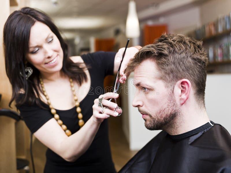 hårsalongläge arkivfoto