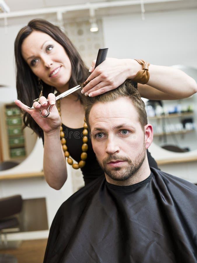hårsalongläge royaltyfri foto
