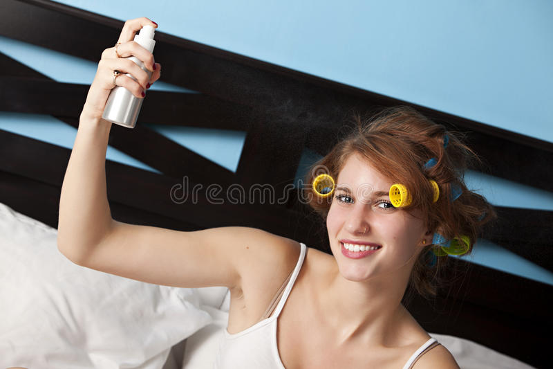 hårspray royaltyfria foton