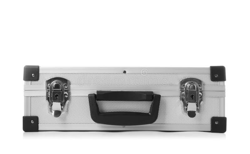 Hårt fall för stilfullt aluminium på vit royaltyfri foto